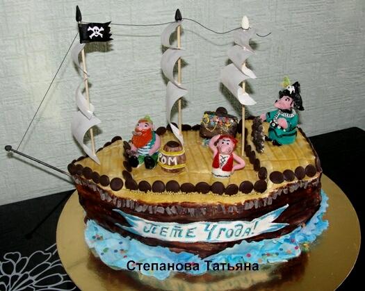 Торт в виде корабля своими руками без мастики